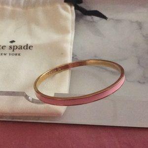 Kate Spade ♠️ 🎀 Pink Enamel idiom Bangle